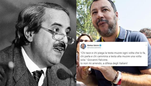 Salvini Cita Falcone Provocando L Indignazione Dei Social