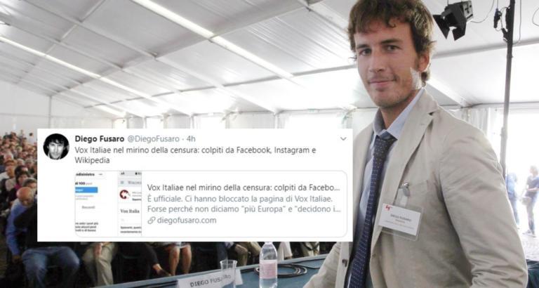 Facebook e Wikipedia bannano le pagine di Vox Italiae, il movimento di Diego Fusaro