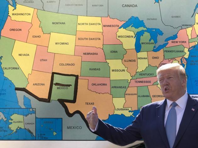 Cartina Politica Messico.Colorado Trump Vuole Costruire Li Un Muro Con Il Messico
