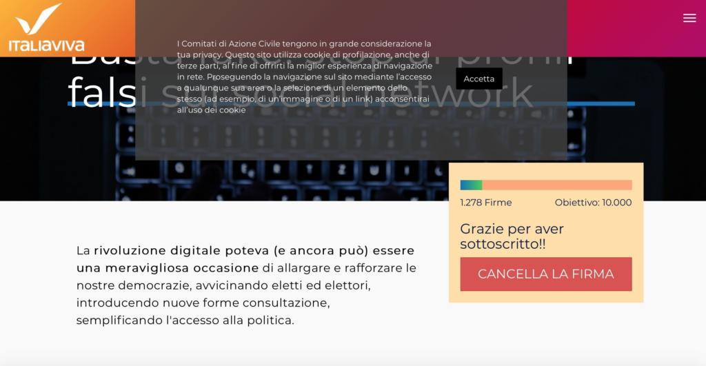 Petizione Italia Viva