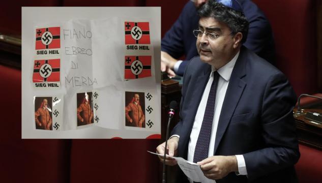 Risultati immagini per emanuele fiano antisemitismo svastiche