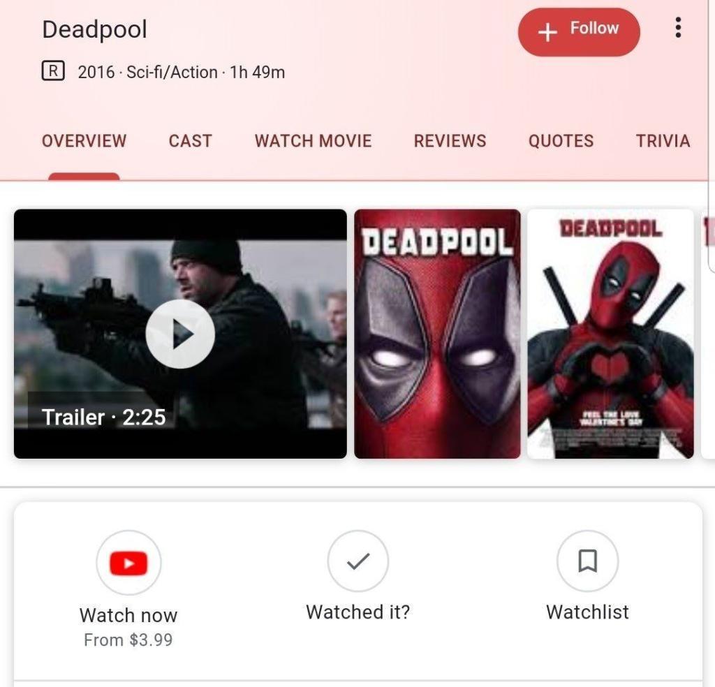 Google Search e YouTube