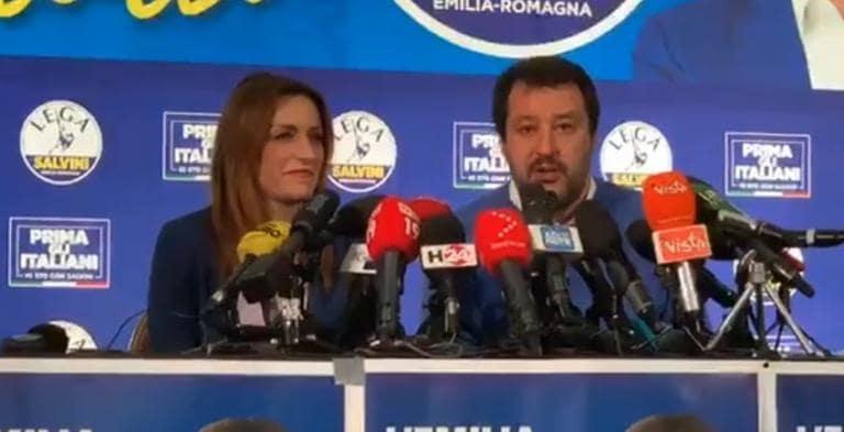 Salvini è felice per la sconfitta in Emilia Romagna: «Vincer