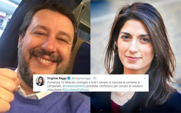 Salvini punta su Roma. Virginia Raggi avvisa: «Staccate la c