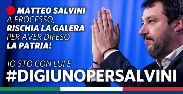 Il digiuno per Salvini è una sorta di vinci Salvini (con buo