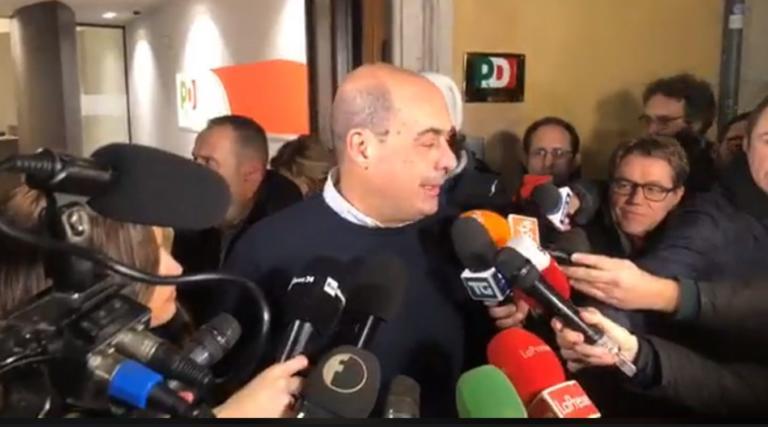 Zingaretti ringrazia apertamente le Sardine per la «scossa d