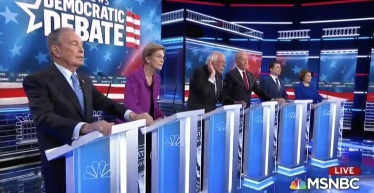 Nel primo dibattito di Bloomberg, tutti gli altri Democrats