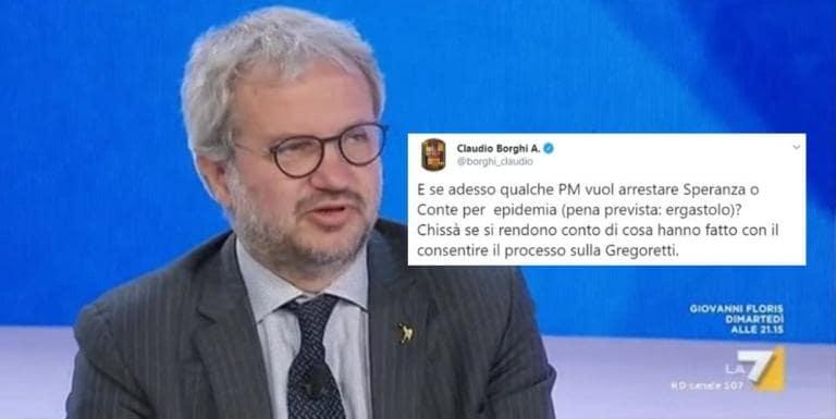 Claudio Borghi vuole denunciare Conte e Speranza per epidemi