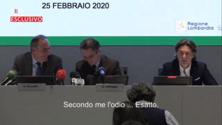 Fontana |  Gallera e il fuori onda sul 'messaggino' ricevuto da Renzi che «odia Conte» |
