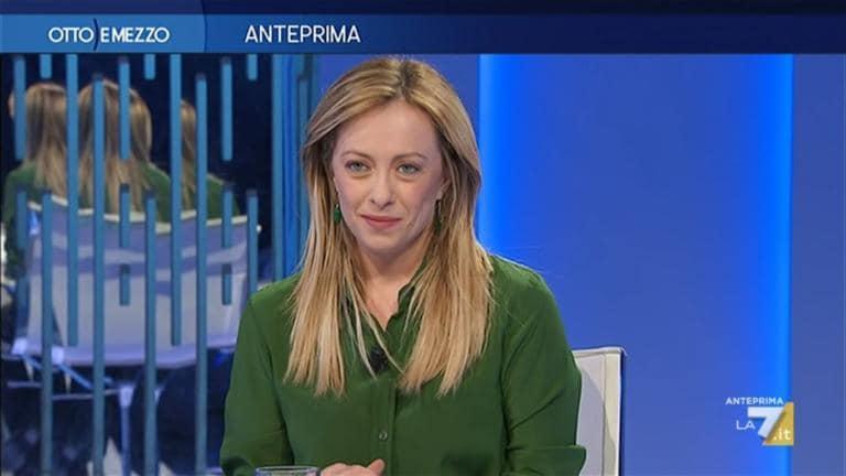 Giorgia Meloni a Otto e Mezzo sul Coronavirus: «Narrazione p