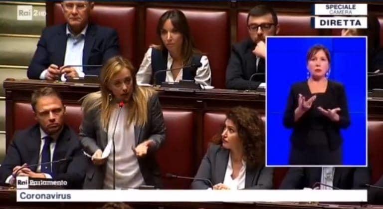 Giorgia Meloni accusa Conte di aver trasformato l'Italia nel