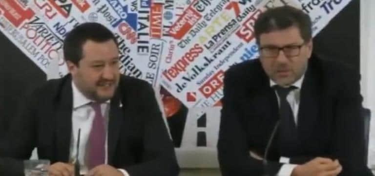 Matteo Salvini su Giorgetti: «È più triste di me perché fa meno sesso di me» | VIDEO