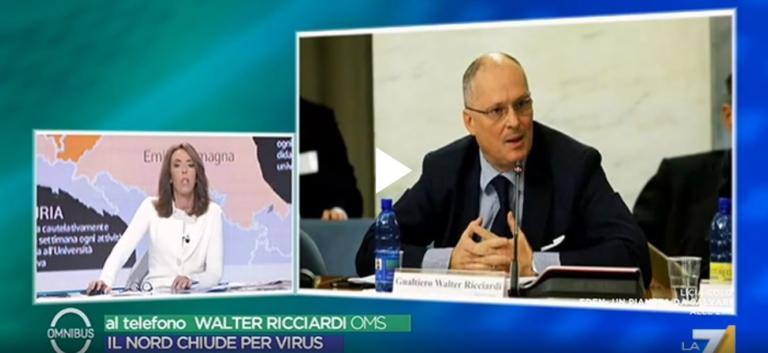 Walter Ricciardi: «Sbagliata la gestione dei test in Veneto.