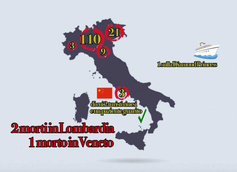 Coronavirus, la mappa dei contagi in Italia