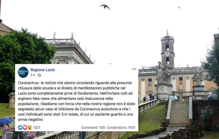 La Regione Lazio smentisce le notizie sulla chiusura delle s
