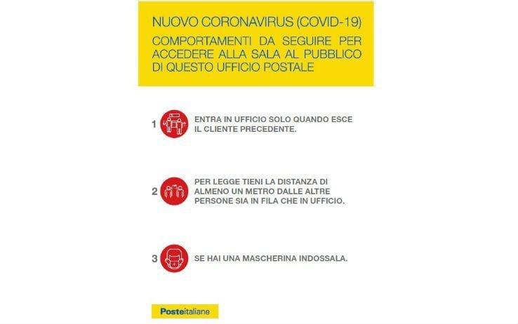 comportamenti coronavirus ufficio postale