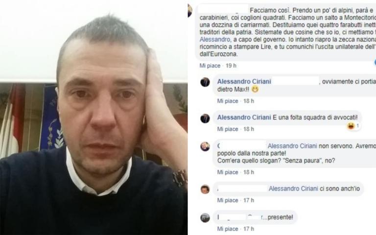 Su Facebook incitano alla rivolta con le armi contro il Parl