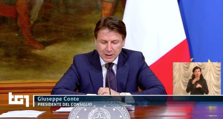 Giuseppe Conte: «400 miliardi di euro per le nostre imprese,