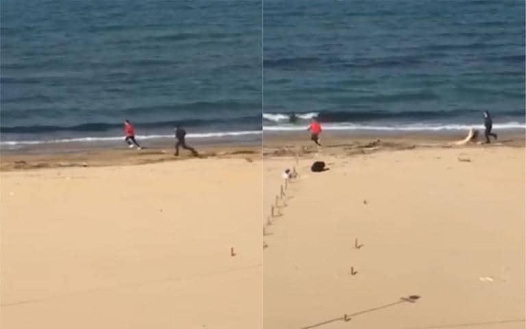 La storia del runner che fugge dal finanziere in spiaggia no