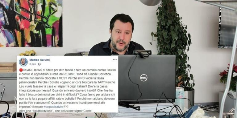 Salvini accusa Conte di aver fatto un comizio contro di lui