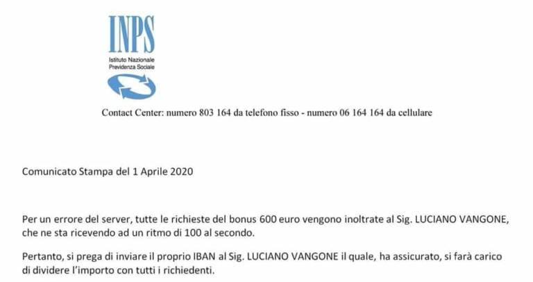 No, Luciano Vangone non riceverà tutti i soldi del bonus Cur