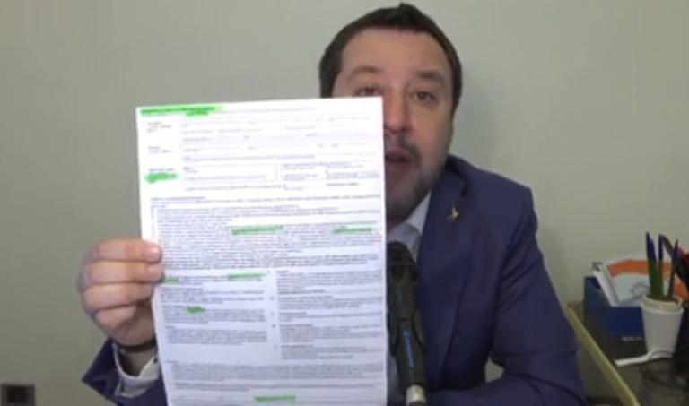 """Perché Salvini continua a citare la bufala del """"foglio svizz"""