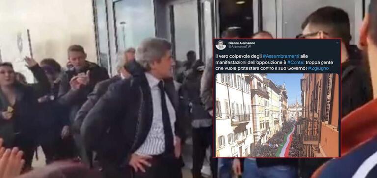 Per Gianni Alemanno il colpevole degli assembramenti del 2 giugno è Giuseppe Conte