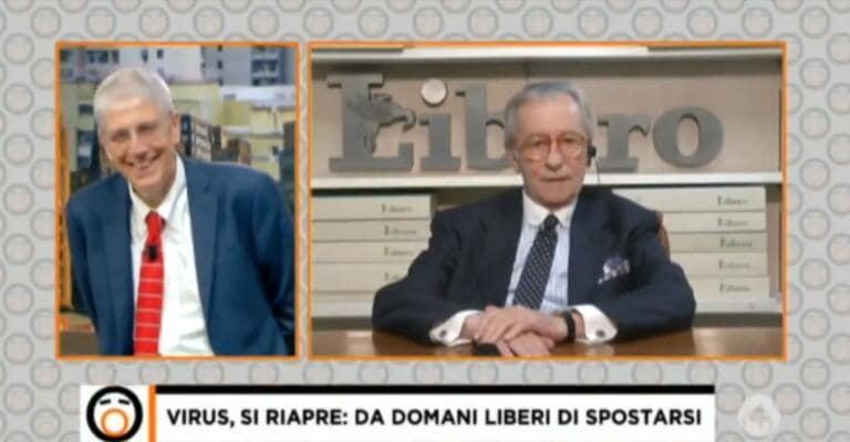 Vittorio Feltri torna a Fuori dal Coro per farci sapere che il mare è pieno di «cacca e pipì» | VIDEO