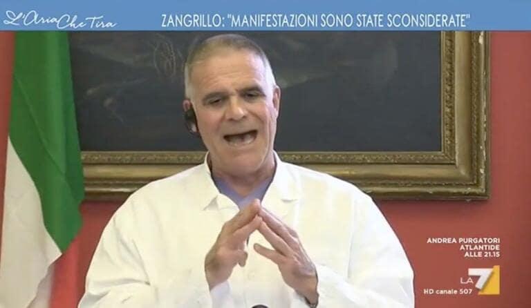 Per Zangrillo è da un mese che in Lombardia non si muore più
