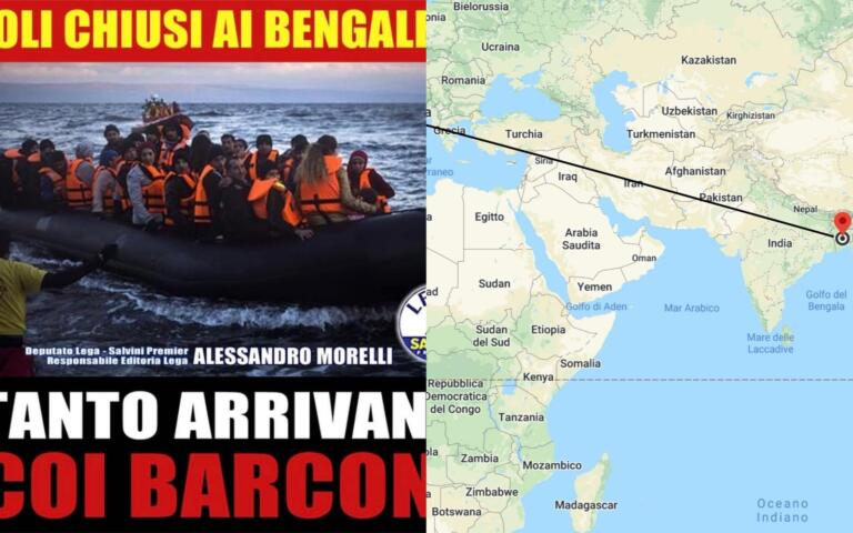 La geografia secondo il leghista Morelli e i bengalesi che a
