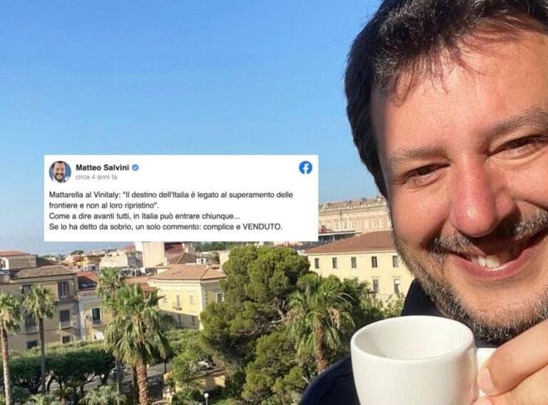 Come Salvini è passato dal definire Mattarella «complice e venduto» al scrivergli lettere
