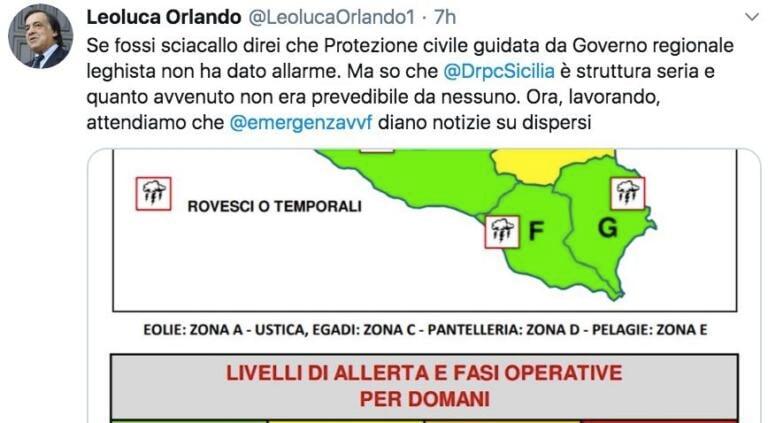 Il sindaco di Palermo Orlando risponde allo sciacallaggio po