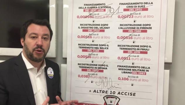 Salvini dice che Conte è il recordman di annunci e promesse