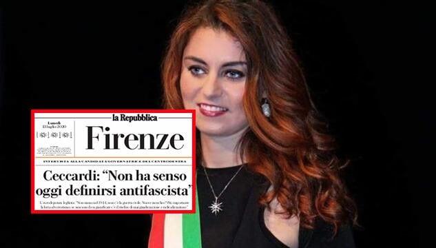 Susanna Ceccardi dice che non ha senso definirsi antifascist