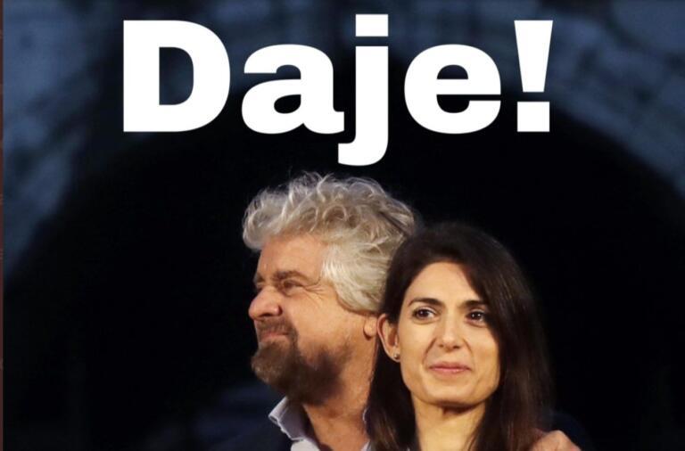 Grillo appoggia la ricandidatura della Raggi: «Daje!»