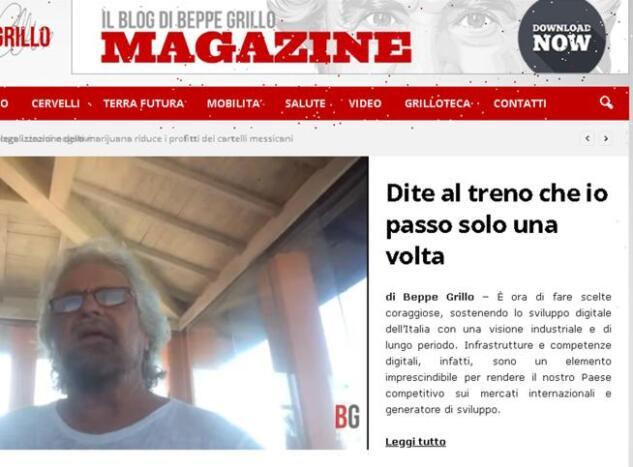 Grillo: «Il sogno era un movimento senza né sedi né tesori»