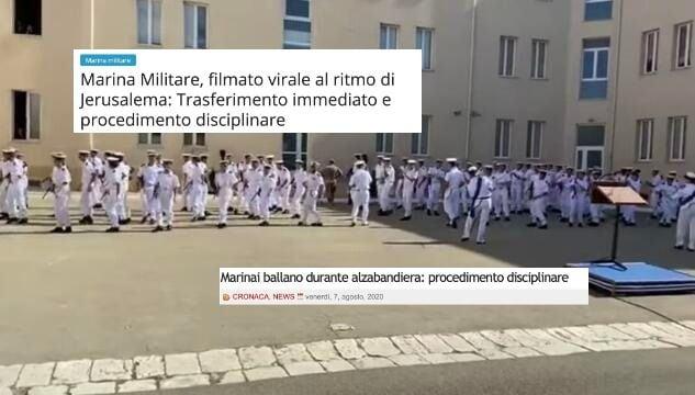 """Ufficiale della Marina balla """"Jerusalema"""" col plotone. E scatta la solidarietà social: «Perché punirla?» – Il video"""