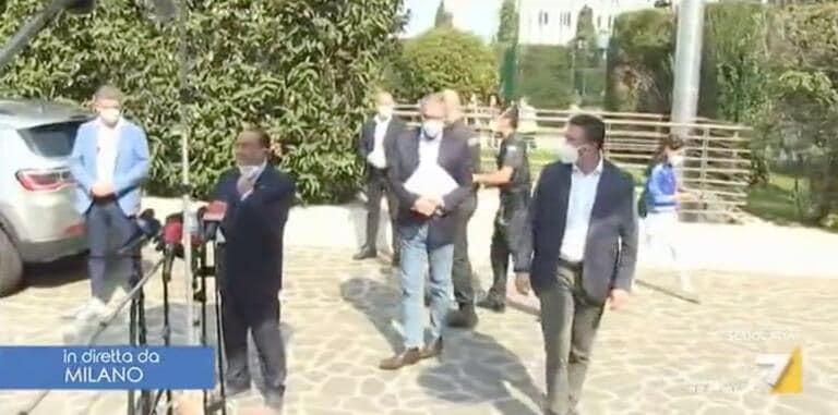 Come la mettiamo con il punto stampa di Berlusconi dopo le dimissioni dal S.Raffaele, visto che è ancora positivo?