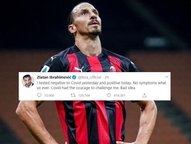 Il tweet di Zlatan Ibrahimovic sulla «pessima idea del Covid di sfidarlo»