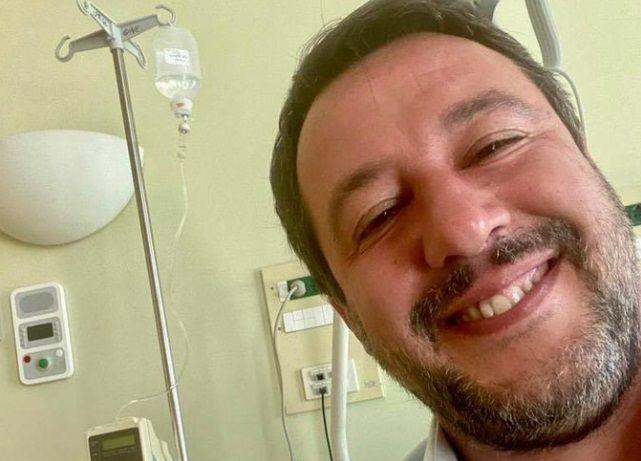 Salvini e il «cortisone, per guarire collo e spalla»