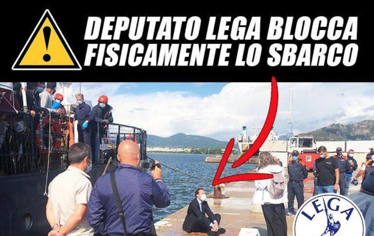 Come il deputato leghista Zoffili voleva impedire lo sbarco della Alan Kurdi sedendosi sul molo di Olbia