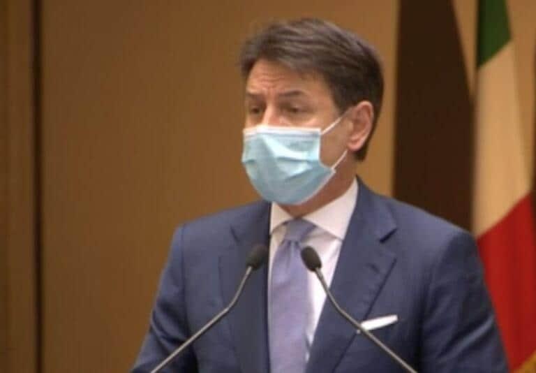 Giuseppe Conte: «Subito ristoro per i settori più colpiti dal dpcm»