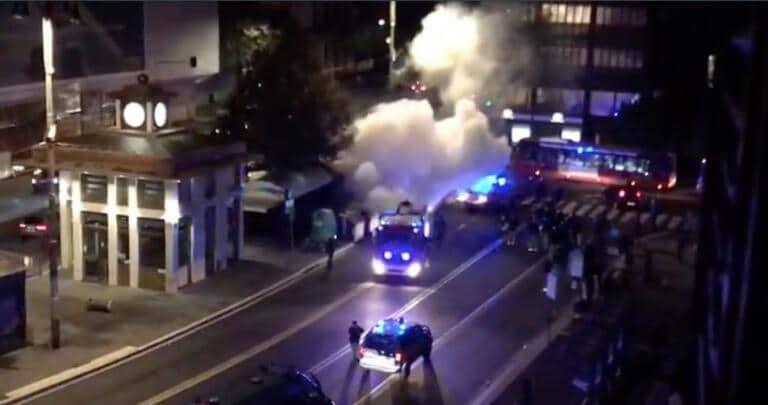 Forza Nuova protesta anche a Roma, scontri: «La polizia ha impugnato le pistole»