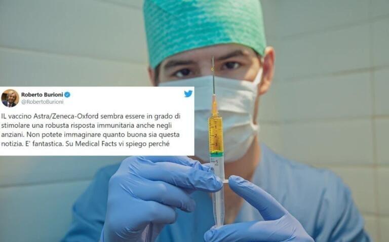 Il vaccino Astra Zeneca sembrerebbe «stimolare una robusta risposta immunitaria anche negli anziani»