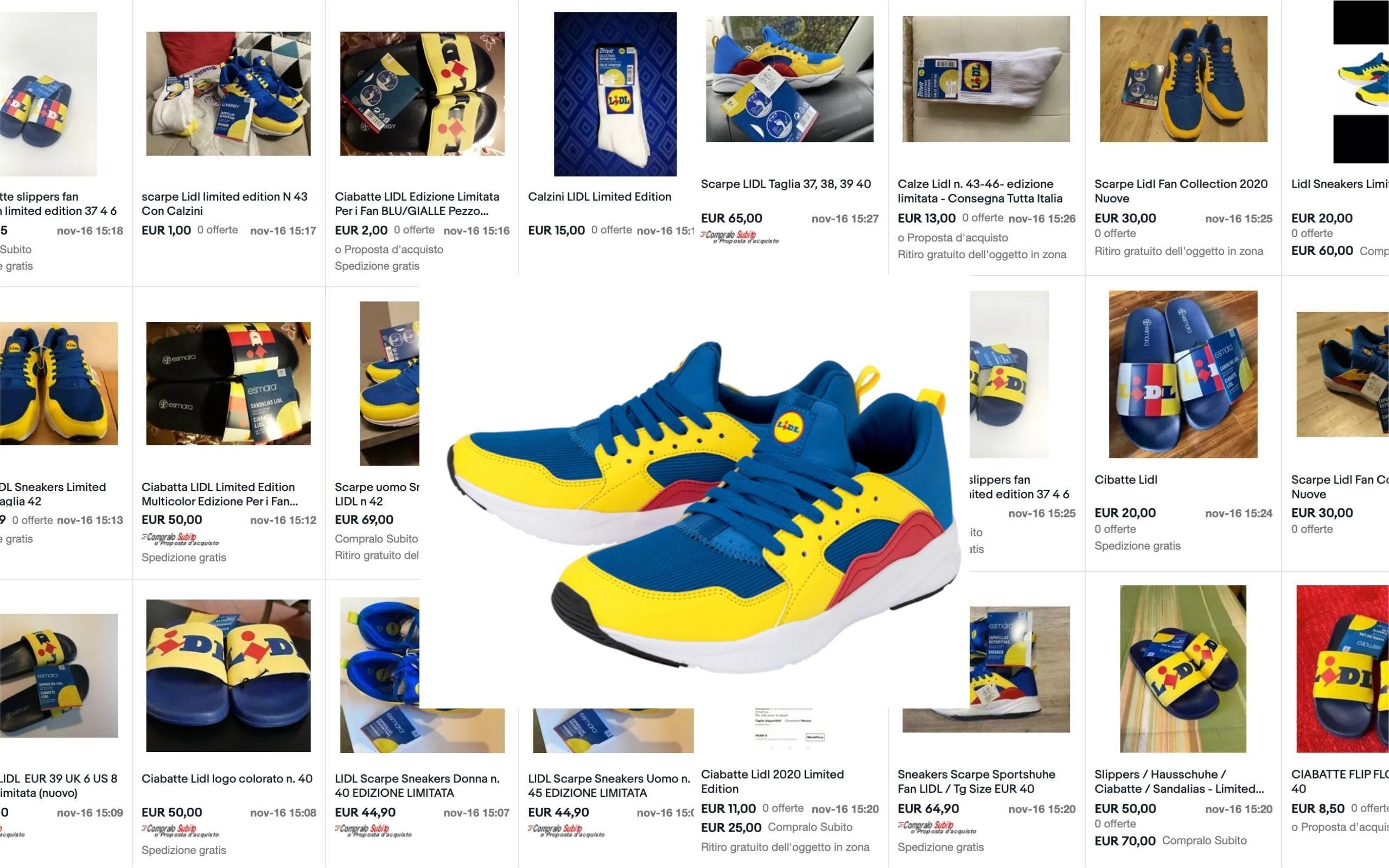 Scarpe Lidl in vendita su Ebay