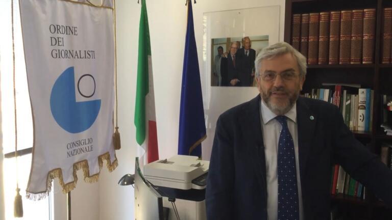 Feltri Boldrini, critiche al presidente dell'Odg Verna per la sua posizione e per il suo italiano