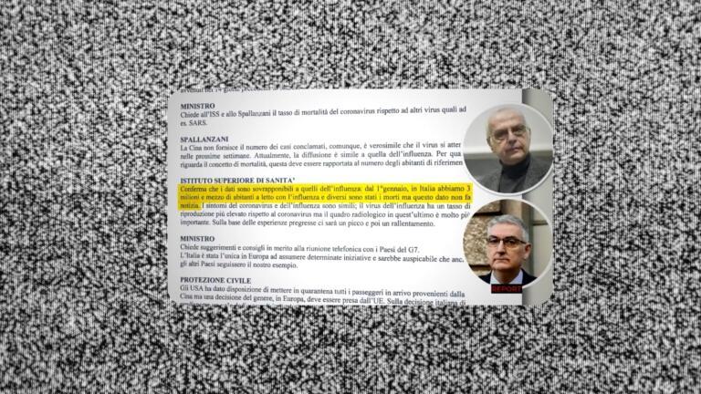 Report pubblica i verbali della task force del gennaio 2020 in cui si sottovalutava il Covid