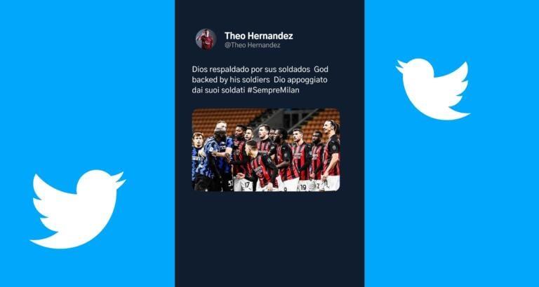 Il tweet di Theo Hernandez che rovescia la narrazione sulla rissa Ibra-Lukaku
