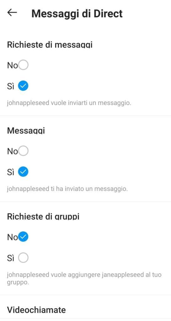 Come bloccare messaggi spam Instagram