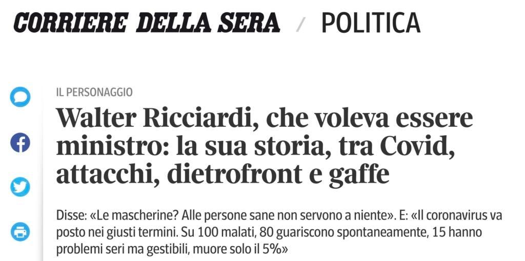 Corriere contro Ricciardi